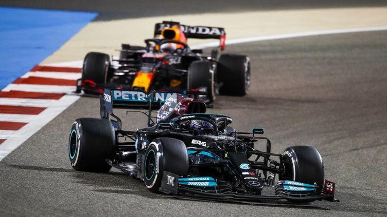 Lewis Hamilton a remporté le premier Grand Prix de la saison 2021 à Bahreïn, ce dimanche 28 mars.  (FLORENT GOODEN / DPPI MEDIA)