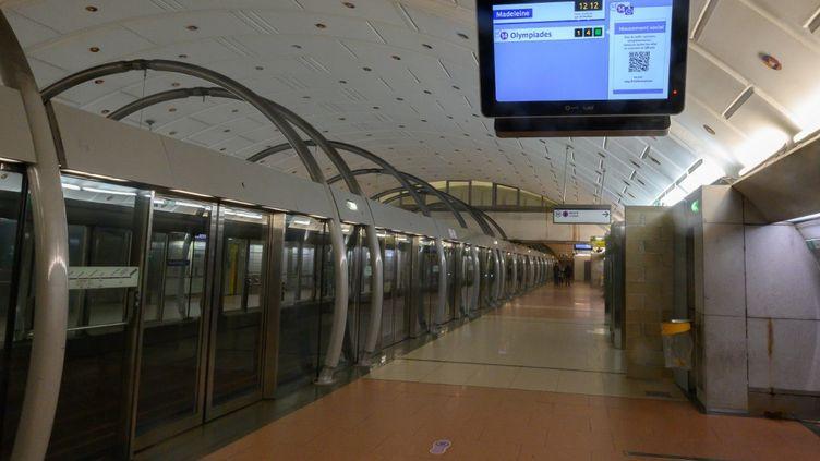 Le quai de la ligne 14 à Gare de Lyon, le 25 décembre 2019. (ESTELLE RUIZ / NURPHOTO)
