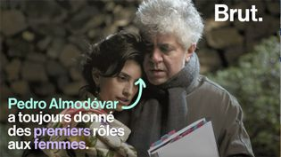 """Son nouveau film """"Douleur et Gloire"""" vient d'être sélectionné en compétition officielle au Festival de Cannes. Pour le réalisateur espagnol, écrire sur les femmes n'est pas si compliqué. (BRUT)"""
