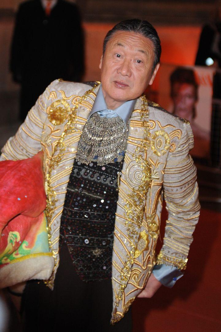 Le designer Kansai Yamamoto, en mars 2013  (PHOTOSHOT/MAXPPP)