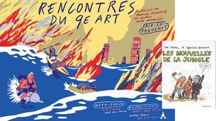 LES RENCONTRES D'AIX ET DE CALAIS (SIMON ROUSSIN, RENCONTRES DU 9E ART / LISA MANDEL, CASTERMAN)
