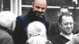 Le Premier ministre Edouard Philippe en déplacement au Havre dans le cadre de sa campagne municipale le 1er février 2020. (Lou BENOIST / AFP / FRANCEINFO.FR)