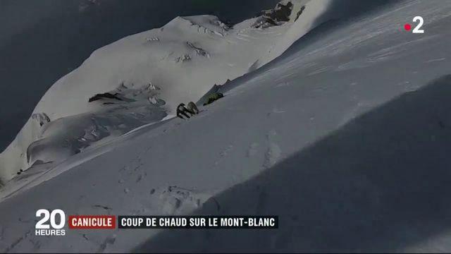 Canicule : coup de chaud sur le Mont-Blanc