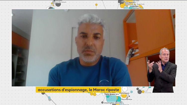 Le journaliste marocain, Omar Brousky, le 22 juillet 2022 sur la chaîne franceinfo. (FRANCEINFO)