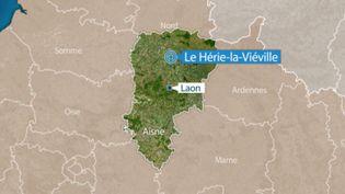 Le corps d'un enfant de 9 ans a été retrouvé dénudé, le 28 mai 2018, dans la cour d'une maison abandonnée de Le Hérie-la-Viéville (Aisne). (FRANCE 3 HAUTS-DE-FRANCE)