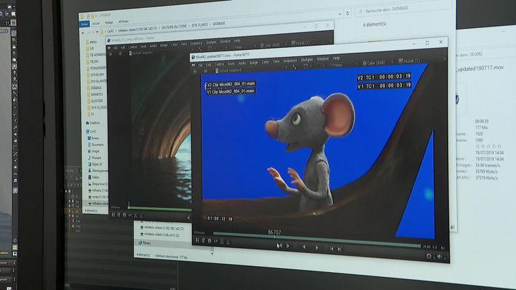 """Fabrication du film """"Même les souris vont au paradis"""" chez INTHEBOX à Annecy. (CAPTURE D'ÉCRAN FRANCE 3 / F. CERONI)"""