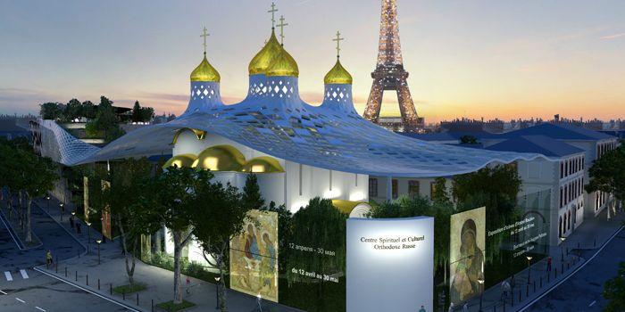 Le projet d'église orthodoxe russe sur le quai Branly, dirigé par Manuel Nunez Yanowsky  (Arch group)