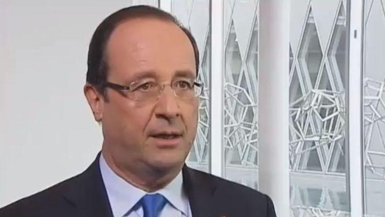 François Hollande, le 11 février 2013. (FRANCE TELEVISIONS / FRANCETV INFO)