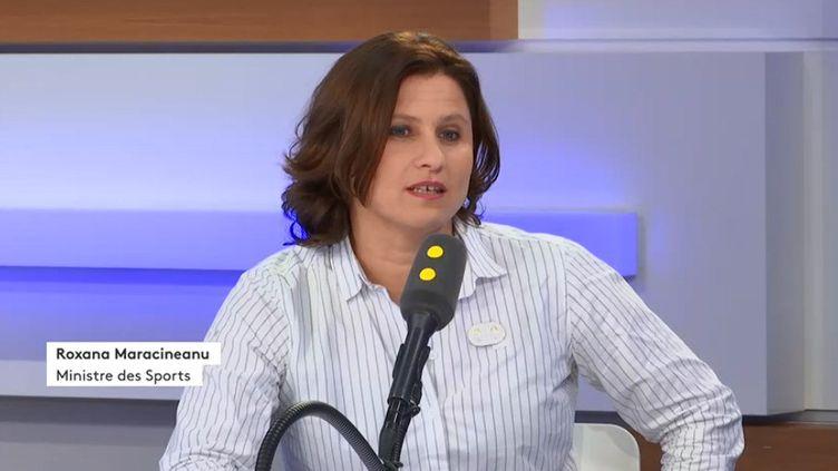 Roxana Maracineanu, ministre des Sports, invitée de franceinfo le 4 novembre2019. (FRANCEINFO / RADIOFRANCE)