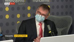 Jean-Paul Ortiz, président de la confédération des syndicats médicaux français(CSMF) le 21 avril 2021 sur franceinfo. (FRANCEINFO / RADIOFRANCE)