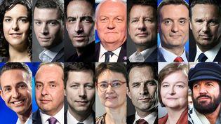 Les 14 têtes de liste invitées jeudi 23 mai 2019 à la Maison de la radio dans le cadre des élections européennes. (FRANCEINFO)
