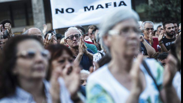 (Manifestation contre la Mafia à Rome en septembre dernier © MAXPPP)