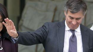 Jérôme Cahuzac, alors ministre du Budget,le 9 janvier 2013 à la sortie de l'Elysée, à Paris. (MICHEL EULER / SIPA )