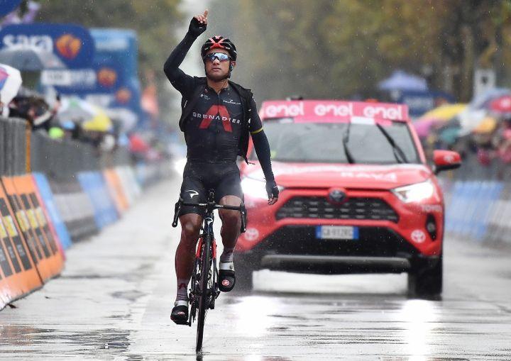 Jhonatan Narvaez, vainqueur surprise de la 12e étape du Giro. (LUCA ZENNARO / ANSA)