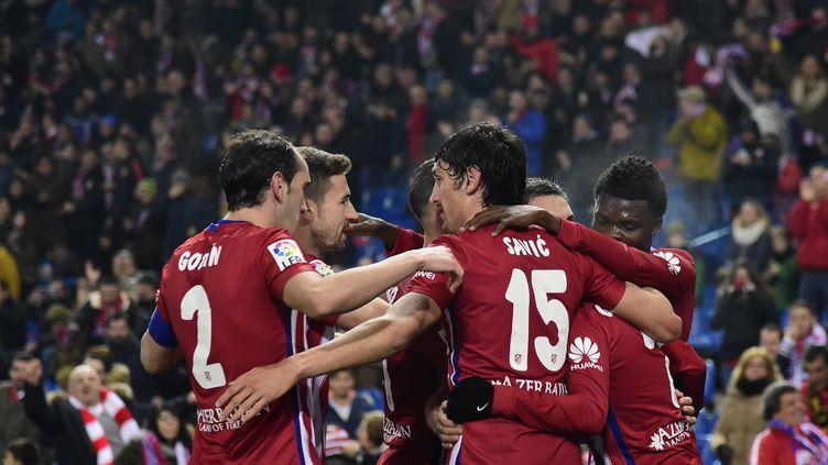 Tenu en échec à l'aller, l'Atlético n'a pas tremblé face au Rayo Vallecano (JAVIER SORIANO / AFP)