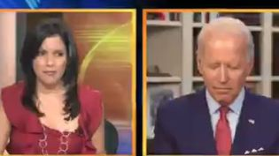 La fausse vidéo montrant le candidat Joe Biden s'assoupissant pendant une interview. (CAPTURE D'ECRAN TWITTER)