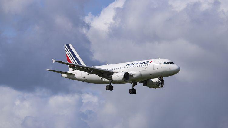 Un avion Air France, à Nantes, le 30 août 2018. (NICOLAS ECONOMOU / NURPHOTO / AFP)