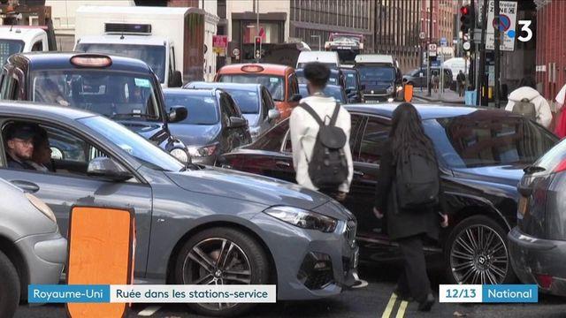 Royaume-Uni : les Britanniques se ruent dans les stations-service