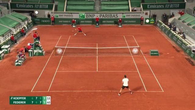 VIDÉO. Roland-Garros 2021 : comment Roger Federer s'est sorti du piège Dominik Koepfer au bout de la nuit