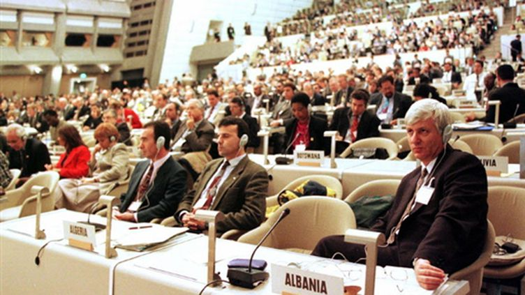 Le sommet de Kyoto en 1997 (AFP)