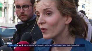 Nathalie Kosciusko-Morizet est menacée à Paris. (FRANCE 3)