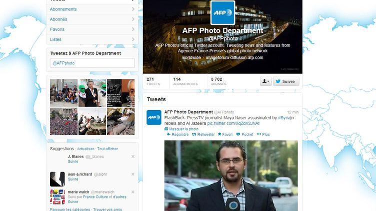 Capture d'écran du compte photo de l'AFP sur Twitter, piraté le 26 février 2013. ( FRANCETV INFO)