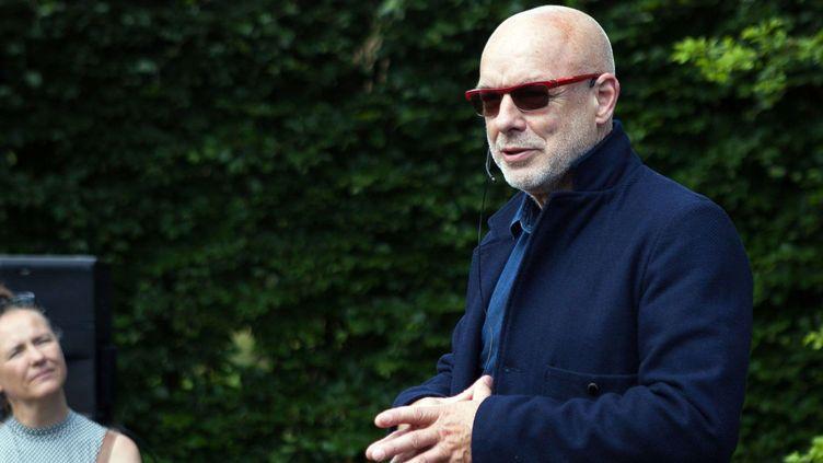 Brian Eno, contre le Brexit (ici au Heartland Festival au Danemark, le 10 juin 2016)  (Hell Gate Media / Shutter / SIPA)