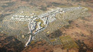 Image panoramique du projet de ville nouvelle Yennenga, au sud de Ouagadougou. (Architecture studio pour CGE immobilier)