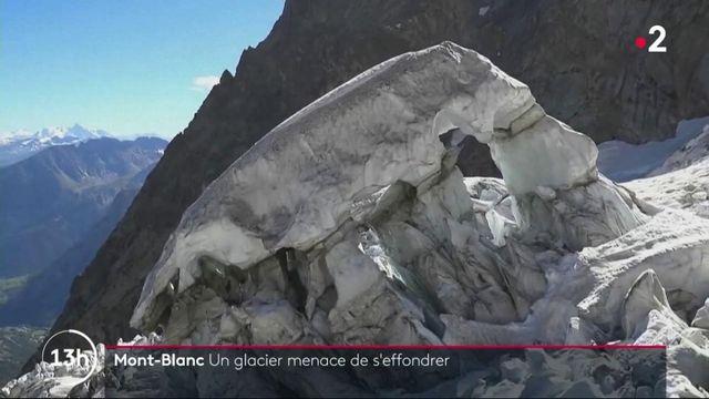 Mont-Blanc : un glacier menace de s'effondrer