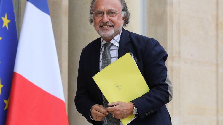 Le député LR Olivier Dassault le 19 juin 2019 à l'Elsyée à Paris. (LUDOVIC MARIN / AFP)