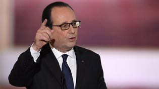 François Hollande lors de la conférence de presse organisée à l'Elysée, jeudi 5 février 2015. (ALAIN JOCARD / AFP)