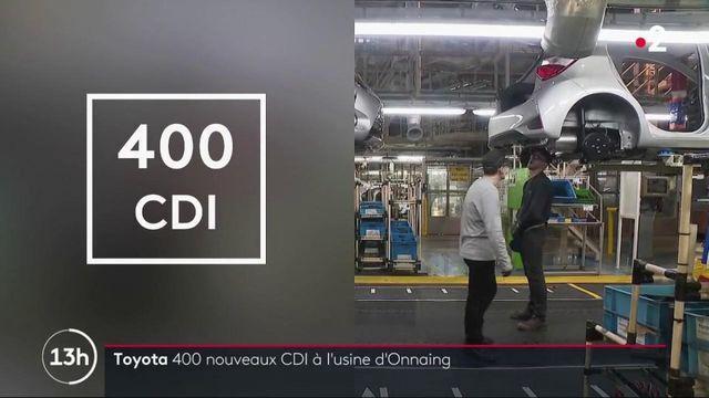 Toyota : 400 nouveaux CDI à l'usine d'Onnaing