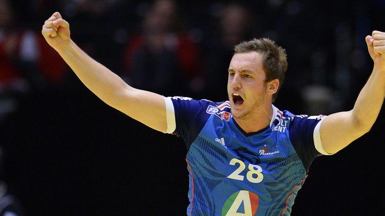 Le joueur de Montpellier, Valentin Porte, a été le meilleur buteur de son équipe avec 9 réalisations. (JONATHAN NACKSTRAND / AFP)