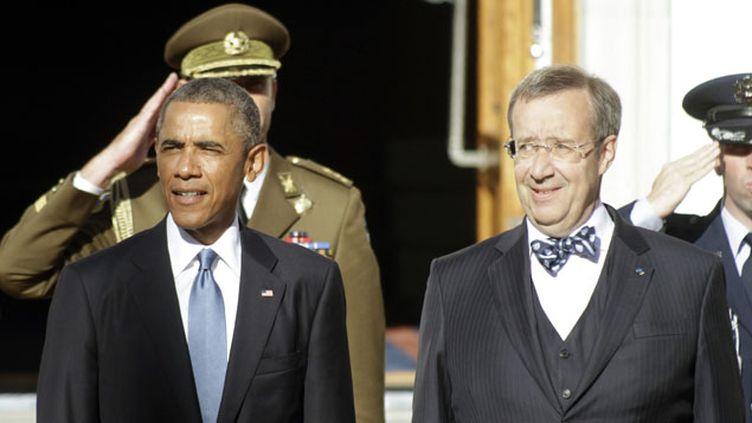(En visite officielle en Estonie, Barack Obama a rencontré son homologue Toomas Hendrik Ilves  ©MaxPPP)