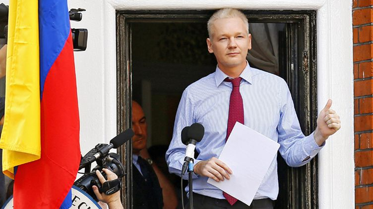 (Julian Assange, 44 ans, vit reclus depuis juin 2012 à l'ambassade d'Equateur dans le quartier de Knightsbridge  © Maxppp)