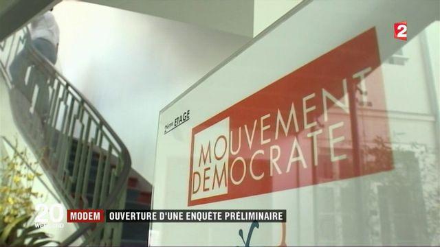MoDem : ouverture d'une enquête préliminaire pour soupçons d'emplois fictifs d'assistants parlementaires