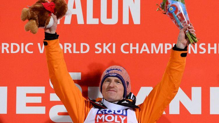 Severin Freund, champion du monde à Falun (JONATHAN NACKSTRAND / AFP)