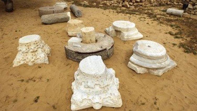 Site archéologique du monastère de Saint-Hilarion, à Gaza, le 19 mars 2013. (AFP)