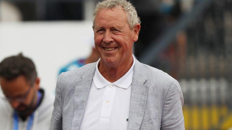 L'ancien ministre des Sports et champion olympique, Guy Drut, le 27 juillet 2019 à Saint-Etienne (Loire). (LAURENT LAIRYS / DPPI)