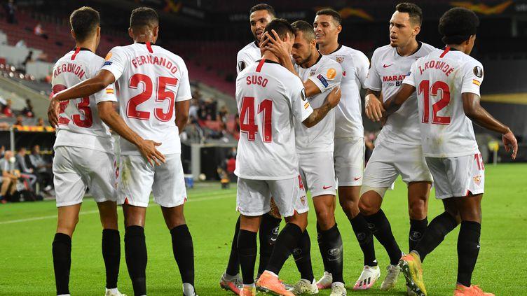 Seville s'est qualifié pour sa sixième finale d'Europa League face à Manchester United. (MARIUS BECKER / DPA)