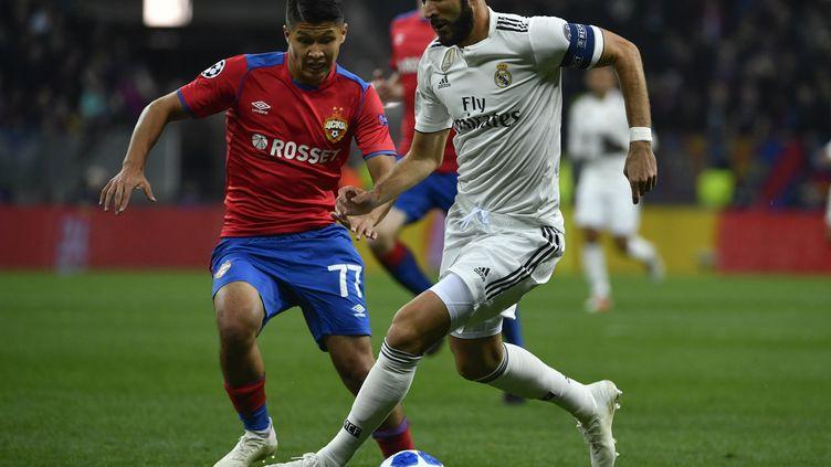 Benzema capitaine du Real Madrid (ALEXANDER NEMENOV / AFP)