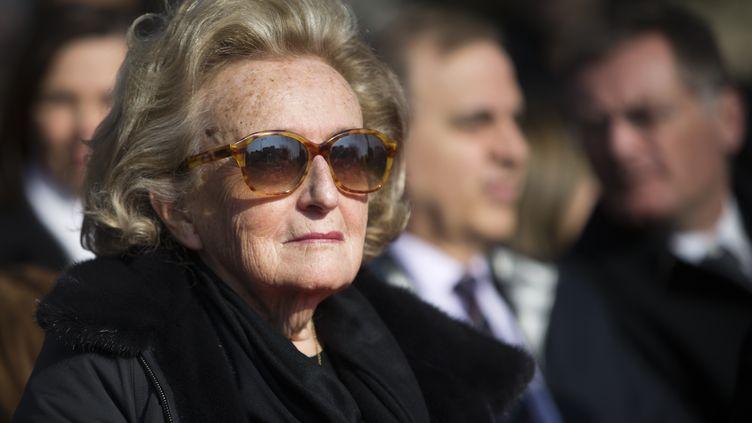 L'ancienne Première dame Bernadette Chirac assiste à l'inauguration d'une place Charles Pasqua, au Plessis-Robinson (Hauts-de-Seine), le 13 mars 2016. (JOEL SAGET / AFP)