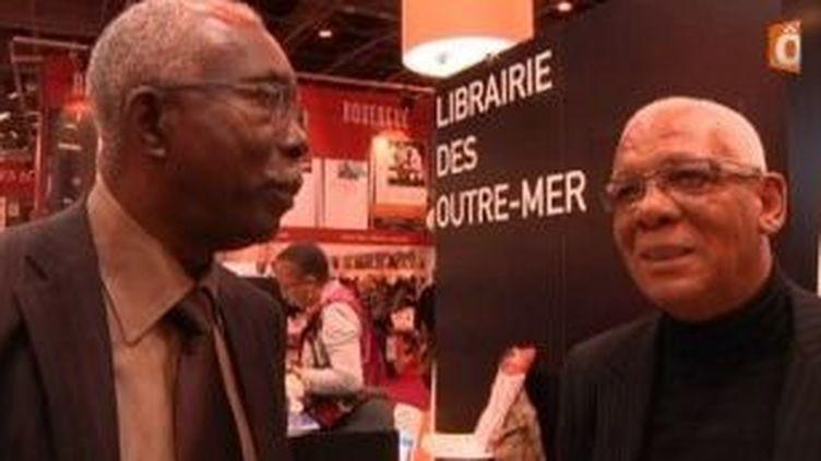 Jubilations guadeloupéennes : Max Rippon et Ernest Pepin au salon du livre 2011  (Culturebox)