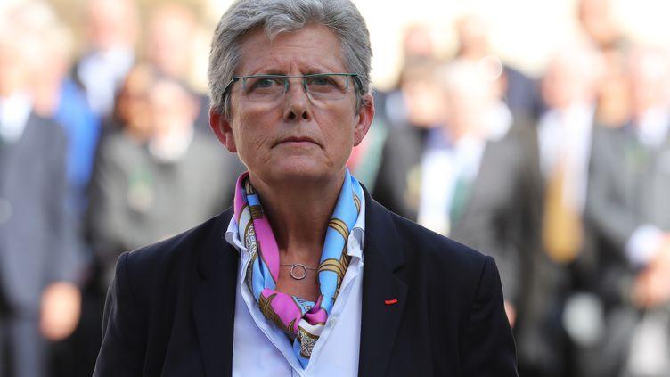 Geneviève Darrieussecq,secrétaire d'État auprès de la ministre des Armées, à Paris, en septembre 2017. (LUDOVIC MARIN / POOL)