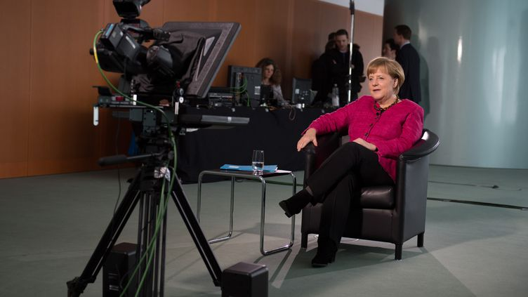 Angela Merkel, le 19 avril 2013, à Berlin (Allemagne). (STEFFEN KUGLER / BUNDESREGIERUNG / AFP)