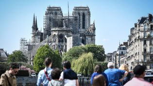 La cathédrale Notre-Dame le 19 avril 2019. (STEPHANE DE SAKUTIN / AFP)