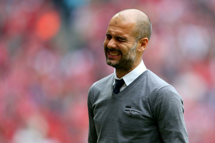 L'entraîneur du Bayern Munich, Pep Guardiola, lors du match Bayern-Augsbourg, le 9 mai 2015 à Munich (Allemagne). (A. HASSENSTEIN / FC BAYERN / GETTY IMAGES)