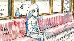 """L'un des layouts du """"Voyage de Chihiro"""" exposés à Art Ludique jusqu'au 1er mars.  (Nibariki GNDDTM capture d'écran France 3)"""