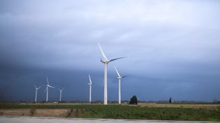 Un parc éolien en Occitanie, le 15 septembre 2021. (THOMAS BARON / HANS LUCAS / AFP)
