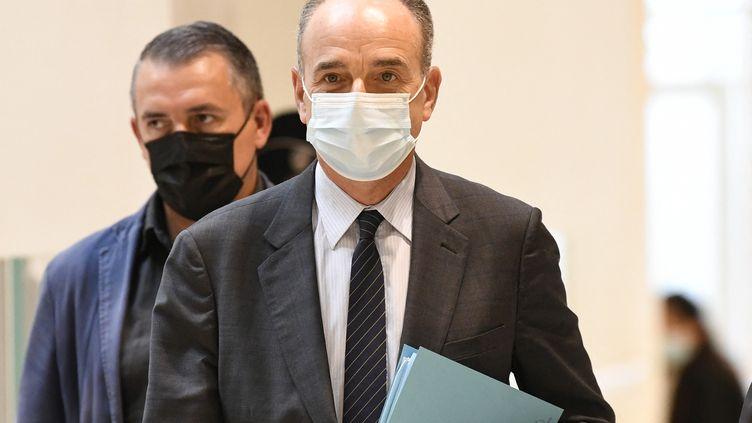 Jean-François Copé(Les Républicains) arrive au procès Bygmalion, au tribunal judiciaire de Paris, le 9 juin 2021. (BERTRAND GUAY / AFP)